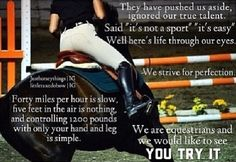 Horseback riding isn't a sport? I'd like to see you try it.