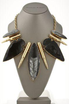 Alchemia Arrowhead Orthoceras Bullet Necklace.