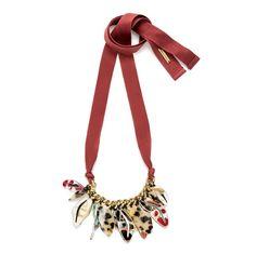 Maroon petals necklace   BIMBA Y LOLA ®