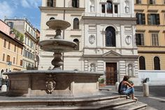 La Fontana di Piazza della Madonna dei Monti. Also known as the Fountain of the Catechumens, from the nearby College of the Catechumens, Sixtus V Peretti  commissioned  Giacomo Della Porta to design this fountain in 1588, as he had already designed the church on the square of the same name in 1580.