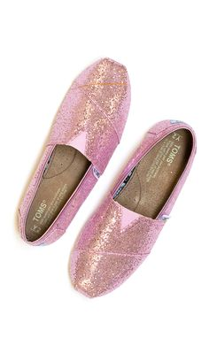 Shine bright like a [pink glitter pair of #TOMS]