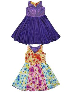dbc79e6f5f Little girl bridesmaid dresses from TwirlyGirl. This style is reversible.  One side for the