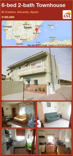 Townhouse for Sale in El Canton, Alicante, Spain with 6 bedrooms, 2 bathrooms - A Spanish Life El Canton, Small Study, Alicante Spain, Open Fires, Wood Burner, Entrance Hall, Walk In Pantry, Second Floor, Bed And Breakfast