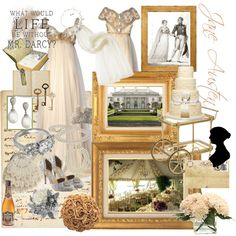Jane Austen Wedding by theiceisfrozen on Polyvore featuring Effy Jewelry, Kenneth Jay Lane, Lanvin, Caron, Distinctive Designs, Home Decorators Collection, Marc Blackwell, The Vatican Library Collection, Krista R and Monsoon