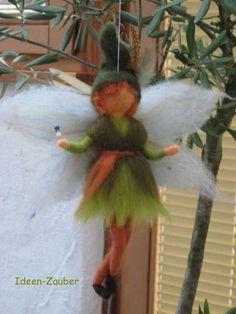 Der gute Elf aus Märchen/Schafwolle Waldorf von Ideen-Zauber auf DaWanda.com