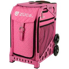 6c587d73bd ZUCA Sport Hot Pink Quilted Sit On Rolling Kit Bag (FRAME  amp  INSERT)