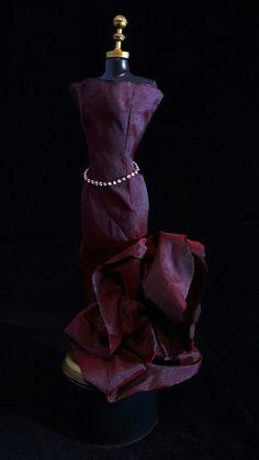 Vestido Flor Vinho  #vestido #dress #doll #boneca #barbie #vinho