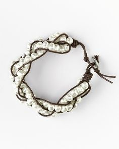 Liked the pearl and brown thread combi for bracelet