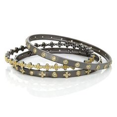 Classic Stud / Clover Set of 3 Stack Bangle