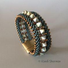 Kumihimo Pyramid Cuff Bracelet Randi Sherman