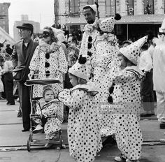 Image result for new orleans wacky style New Orleans History, Mardi Gras Costumes, Old Pictures, Masquerade, Fancy Dress, Louisiana, Lions, 1950s, Carnival