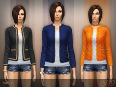 The Sims Resource: Quilted jacket by Beo2010 • Sims 4 Downloads