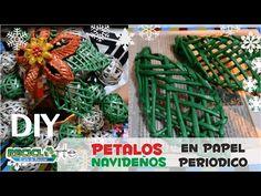 DIY ♻ PETALO TEJIDO EN PAPEL PERIODICO / DIY ♻ PETALO FABRIC ON PERIODIC...