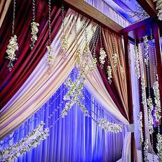 indian wedding floral mandap