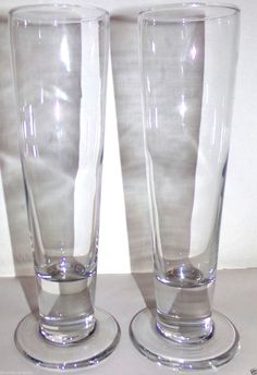 8bac3cc5b6 Pilsner Beer Glasses Clear Tall 9.25