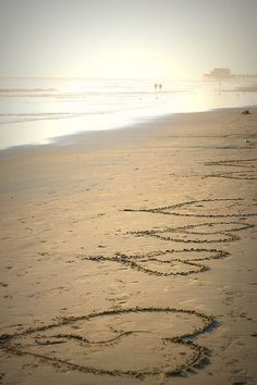 Hearts in the sand. Did this in New Zealand for someone special that was once in my life.