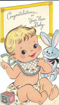 Congratulations on Your New Baby! #cute #vintage #cards #babies