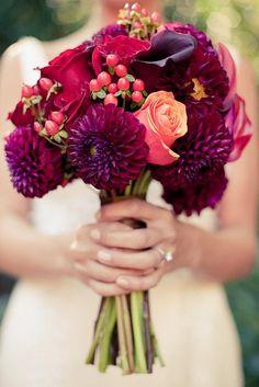 Pink & Purple Bouquet #wedding #bouquet #flowers #pink #purple #spring #inspiration