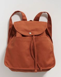 Drawstring Backpack with wider straps and reimagined exterior pockets. Comfortable to wear and spacious enough to carry your daily essentials. Satchel Backpack, Leather Backpack, Drawstring Backpack, Leather Bag, Siena, Recycling, Cotton Bag, Cotton Canvas, Day Use