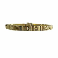 Vintage Italian 14K Gold Link Bracelet, c. 1990s. $550