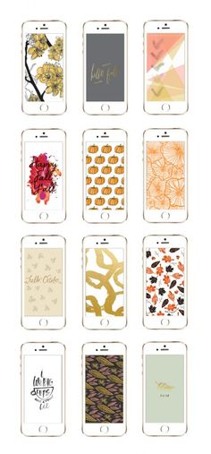 Use these as backgrounds for DIY full boxes! → 12 Awesome iPhone Wallpaper Designs for Fall