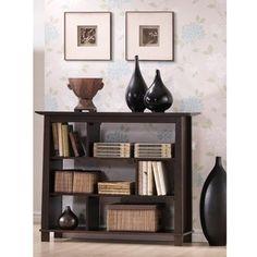 Havana Brown Wood Modern Bookcase | Overstock.com Shopping - Great Deals on Baxton Studio Media/Bookshelves