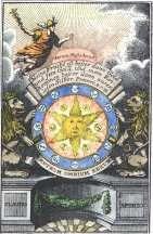 Alchemy:  Frontispiece engraving from Drey curieuse chymische tractätlein, 1774.  An Alchemy artwork.