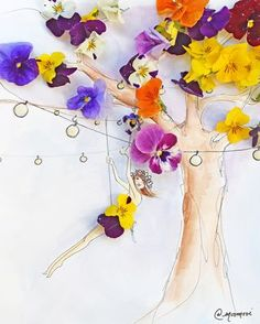 I Use Flowers & Veggies To Create Fashion Illustrations Art Floral, Floral Prints, Art Fantaisiste, Fine Art Prints, Framed Prints, Fashion Artwork, Pressed Flower Art, Foto Art, Flower Fashion