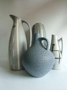 Vintage Vasen - Vase - Henkelvase 60er Jahre - ein Designerstück von susduett bei DaWanda