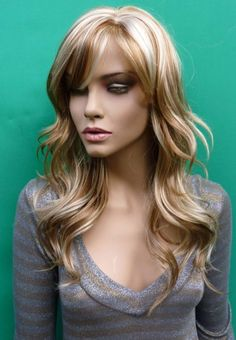 Strawberry Blonde Hair w/ Highlight- I know its a wig but I love the pale blonde mixed with the strawberry