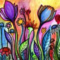 A Splash Of Color Painting by Robin Mead
