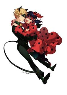 Early 1900s fashion (Miraculous Ladybug, ladynoir, chat noir)