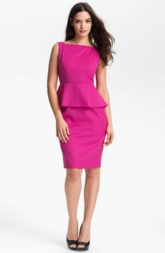 Anne Klein Peplum Sheath Dress available at #Nordstrom
