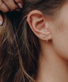 Topaz Sapphire Stud Earrings – Edge of Ember Geode Jewelry, Ear Jewelry, Cute Jewelry, Crystal Jewelry, Crystal Earrings, Stud Earrings, Jewellery, Pretty Ear Piercings, Accesorios Casual