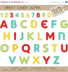 Sweet Candy - Luvly Marketplace | Premium Design Resources #clipart #alphabet