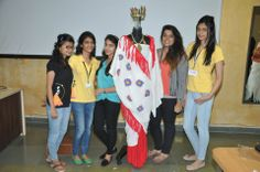 Team of @Whistling Woods-Neeta Lulla School Of Fashion Students with their creation  - A replica of Sumerian Costumes