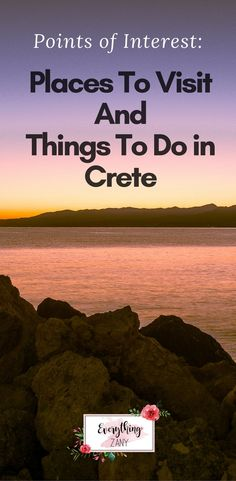 Points of Interest: Places To Visit And Things To Do in Crete | #Crete #CreteIsland #cretegreece | Crete is the largest island in Greece and one of the biggest islands in the Mediterranean. Crete is located at the edge of Greece near the African continent and Cyprus.  Our trip to Crete was incredible. We had a fantastic week exploring the island and everything it has to offer from its beautiful landscape, beaches and delicious food.