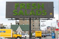 Leo Burnett Plants Lettuce Garden on McDonald's Billboard