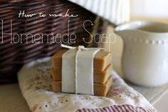 Homemade Soap is quite literally one of the easiest things to make. ONE BATCH lasts our family of four an entire year. Now, that is just plain awesome! We love...