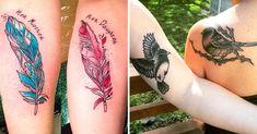 Tatuajes para hermanas. Tatuajes originales para hermanas. Tatuajes para dos o más hermanas. Tatuajes para hermanas de frases. Tatuajes para hermanas dos mitades. Ideas, diseños.