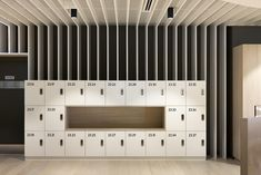 In collaboration with our custom locker manufacturer, Lockin, ISM created 430 lockers installed across 4 levels of the Melbourne office of Transurban. Staff Lockers, Office Lockers, Office Storage, Locker Storage, Locker Designs, Office Designs, Garderobe Design, Office Floor Plan, Mail Room