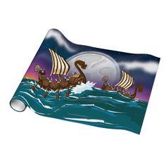 Viking Invasion Fleet Gift Wrapping Paper