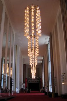 Grand Foyer in JFK Performing Arts Center in Washington DC