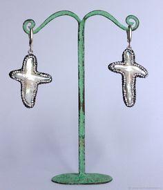 Купить Серьги Кресты из Барочного Жемчуга в интернет магазине на Ярмарке Мастеров