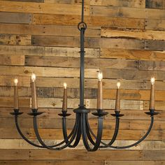 Modernized Rustic Iron Chandelier - Large - don't use both - but if you don't use the small one in the bkfst. rm. this could work in the dining room - it has sconces to match - if you want to keep the sconces.