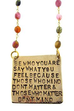 """Be Who You Are"" Pendant Necklace by Alisa Michelle on @HauteLook"