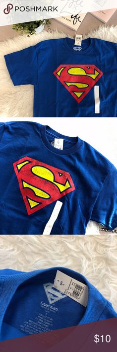 Superman T-shirt Kids Large, 100% cotton. NWT. DC Shirts & Tops Tees - Short Sleeve