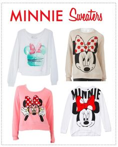 Stay warm with these Minnie Mouse sweaters.