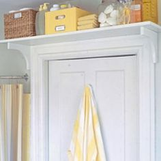 Build shelves above doorways for extra storage or display space.