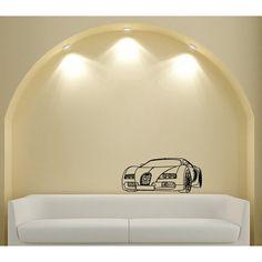 Glossy Bugatti Veyron Vinyl Wall Decal